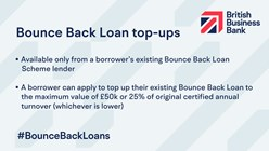 Bounce Back Loan top-ups
